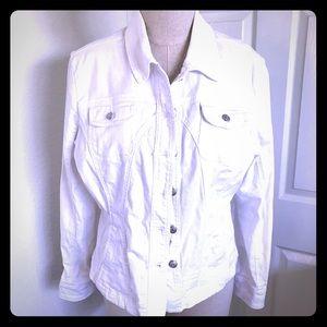 Live A Little White denim jacket